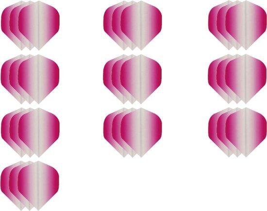 Dragon darts - Super Sterke Fade Side Roze - flights – 10 sets - dart flights - darts flights