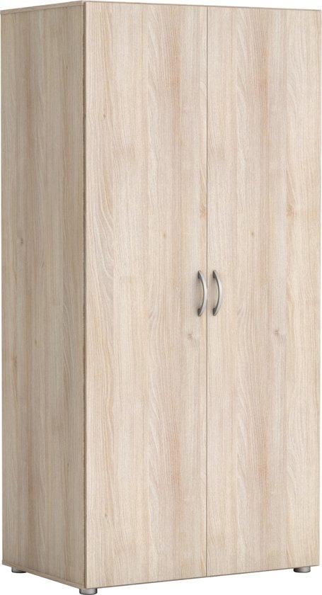 Planken Voor Kledingkast.Bol Com Kesta Zip Kledingkast Acacia Met Hangruimte En Planken