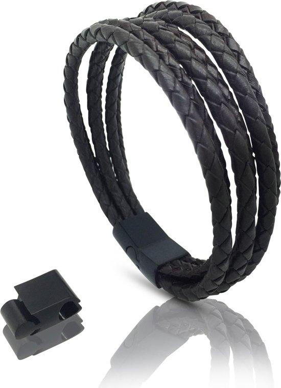 Armband leer heren bruin met magnetische sluiting Galeara design VAO