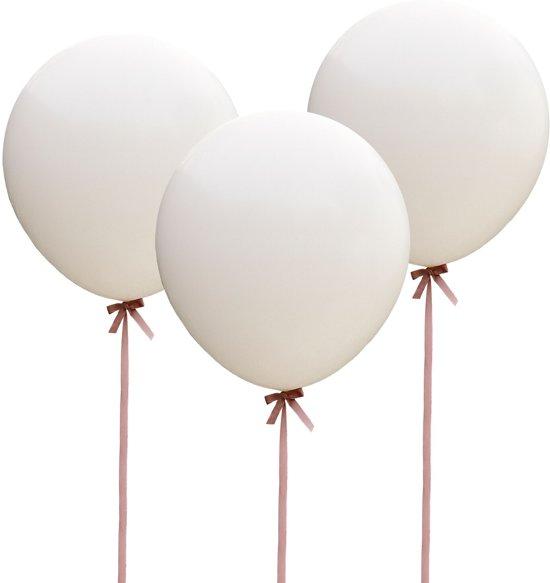Ginger Ray Vintage Affair - XL ballon Ø 90 cm - wit - Set-3 Valentinaa