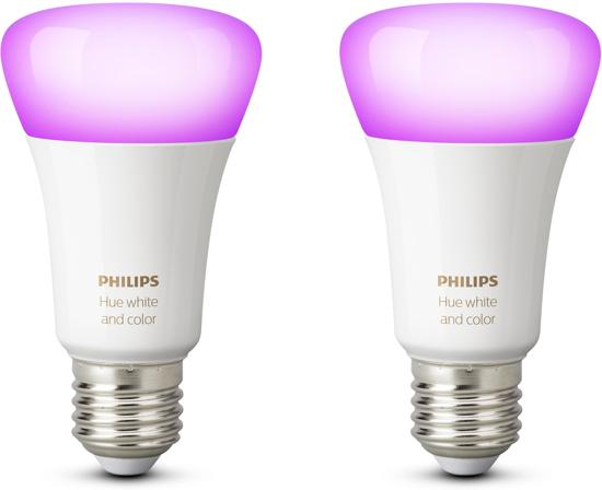 Philips Hue White and Color Ambiance - Duopack - E27