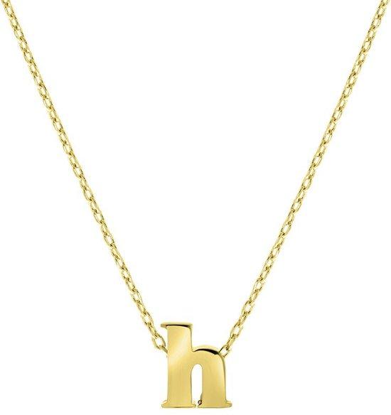 Lucardi Kettingen - Goldplated ketting met letter hanger
