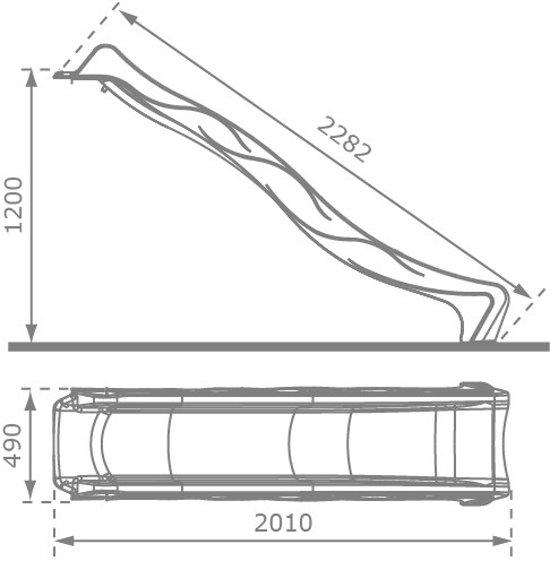 Losse glijbaan Rex voor platformhoogte 120 cm - Donkergroen / groen