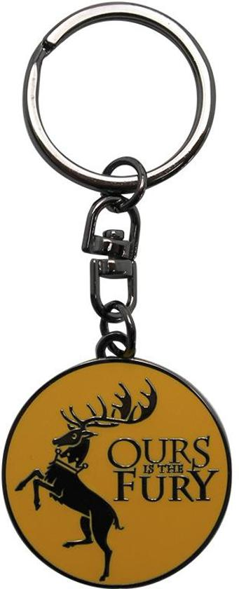 Game of thrones - metal keychain - baratheon