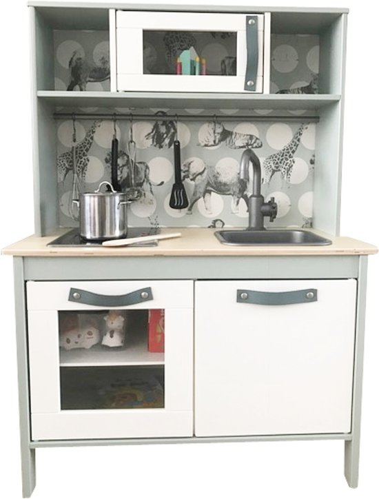 Bol Com Lederen Handgrepen Set Voor Ikea Duktig Keuken Grijs Blauw