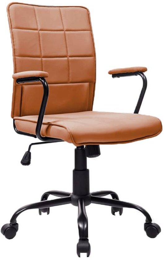 Bureaustoel Vaste Poten.Bol Com Modern Design Bureaustoel Pantone Cognac