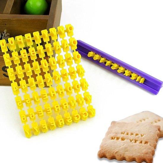 Boozo - Koekjes Stempel Set - Koekjesstempel Set - Stempelset Koekjes - Koekjesvorm - Koekjes maken - Koekjes bakken - Alfabet