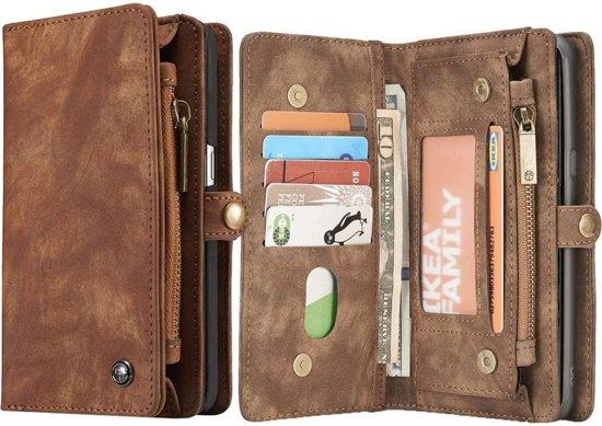 d75506006ff Samsung Galaxy S8 Luxe Portemonnee Hoesje - uitneembaar met backcover  (bruin)