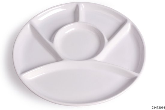 Imperial Kitchen Fonduebord - 4 stuks - Ø 23 cm - Wit