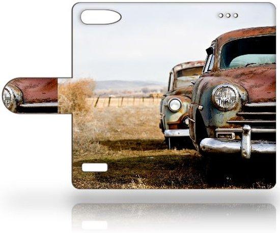 Huawei Ascend G6 4G Uniek Ontworpen Boekhoesje Vintage Auto in De Lethe