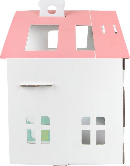 Tektorado Poppenhuis Karton Wit/roze 40 X 31 X 44 Cm
