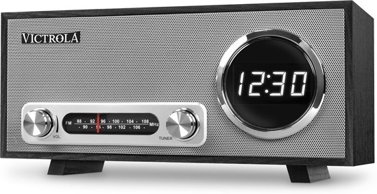 Victrola VC-100 Retro Radio Wekker Bluetooth Zwart