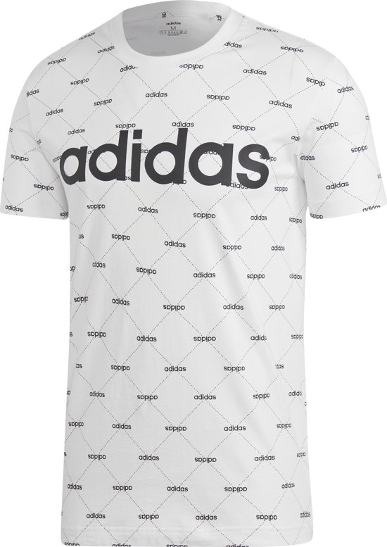 Adidas Linear Graphic T-shirt Wit Heren