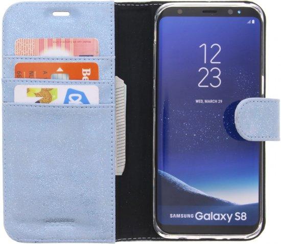 Porte-monnaie Bleu Livret Tpu Pour Samsung Galaxy S8, Plus