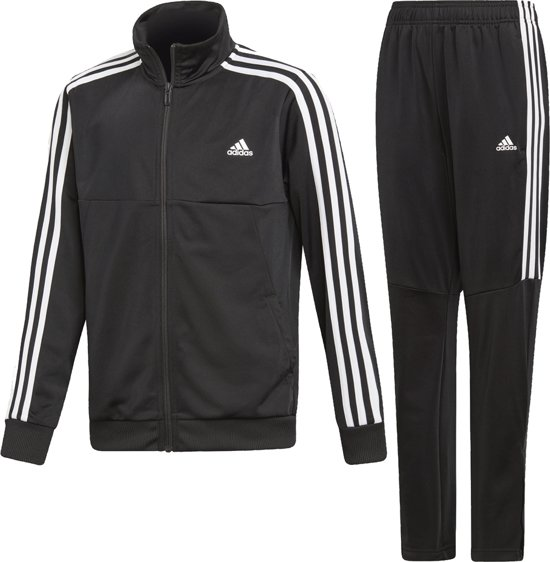 adidas TS TIRO Jongens Trainingspak - Top:Black/White Bottom:Black/White - Maat 110
