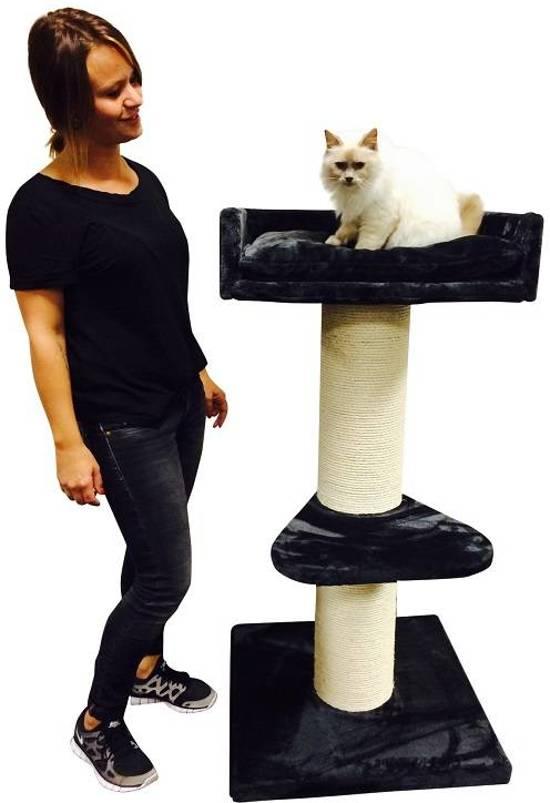 RHRQuality Krabpaal Maine Coon Lounge antraciet voor grote katten
