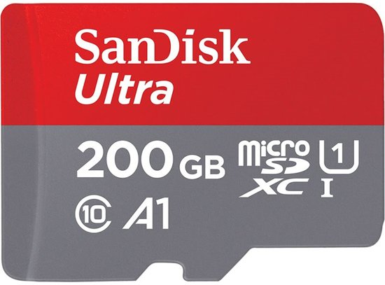 SanDisk Ultra Micro SD Kaart 200 GB - UHS1 & A1 - met SD-adapter