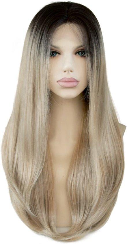 Sonderangebot Neueste Mode schöner Stil bol.com | Actie Synthetic haar front lace wig Solange kleur ...