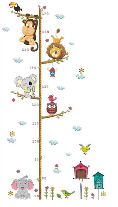 Groeimeter | beestenboel | Groei meter | Muursticker
