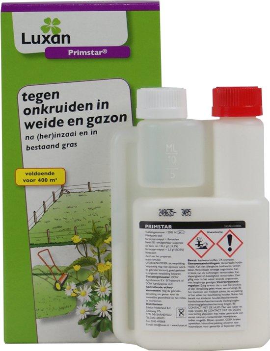 Luxan Primstar tegen onkruiden in gazon