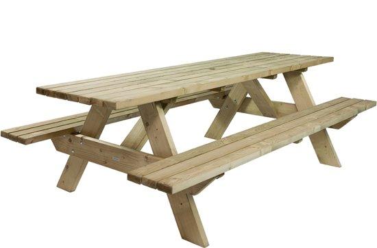 MaximaVida luxe houten picknicktafel 220 cm - extra brede poten en dwarsbalken- 40 mm houtdikte