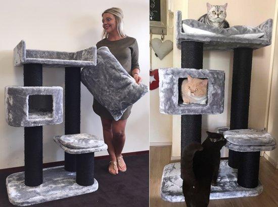 Krabpaal Devon Rex Blackline Grijs voor grote katten