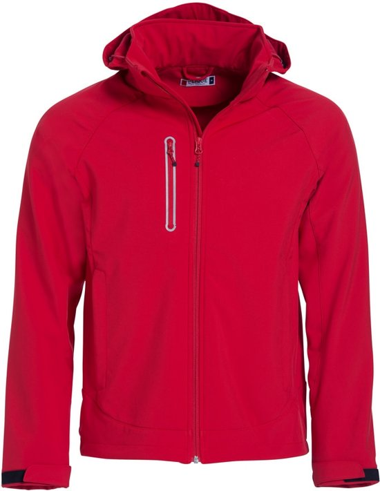 Clique Milford Softshell Rood maat L