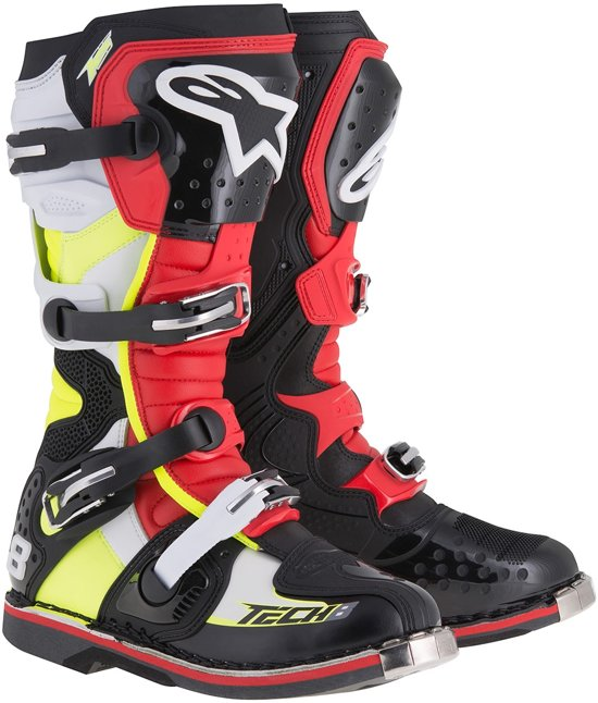 Alpinestars Crosslaarzen Tech 8 RS Black/Red/Yellow Fluo/White-39 (EU)