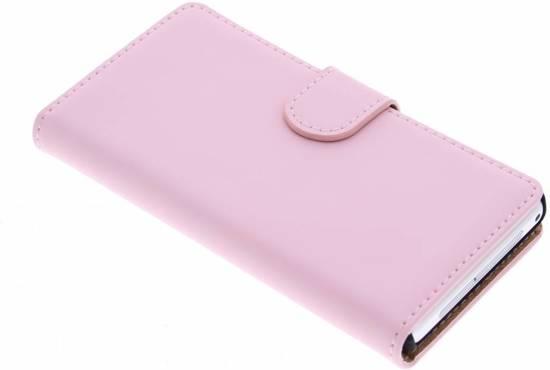 Cas De Livre De Luxe Pour Sony Xperia Z1 Compact - Rose Poudré 21fTJS