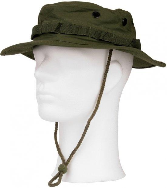 Groene bush hoed met extra drukknoop M (57)