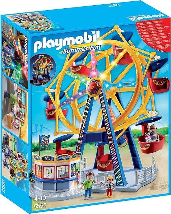bol.com | Playmobil Kermis Groot draairad met kleurrijke verlichting ...