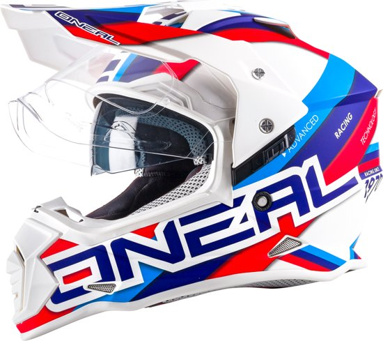 O'neal Crosshelm/Endurohelm Sierra II Circuit White/Blue-S