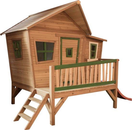 AXI Kinderspeelhuisje met glijbaan Emma hout