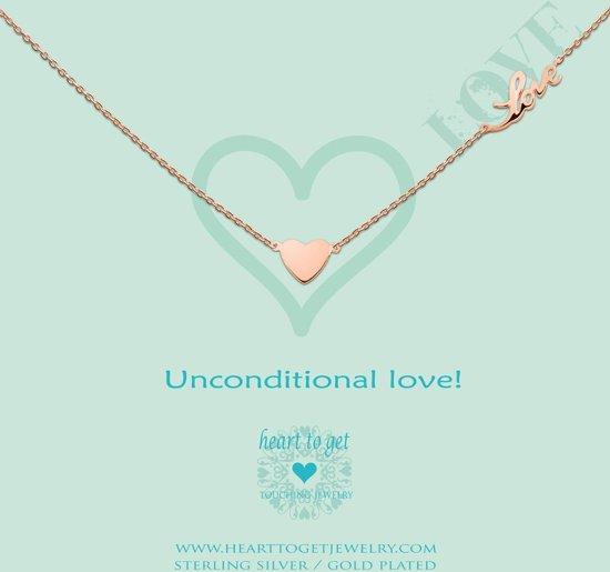 Heart to Get - Ketting met hanger - RoséGoudkleurig - Unconditional love