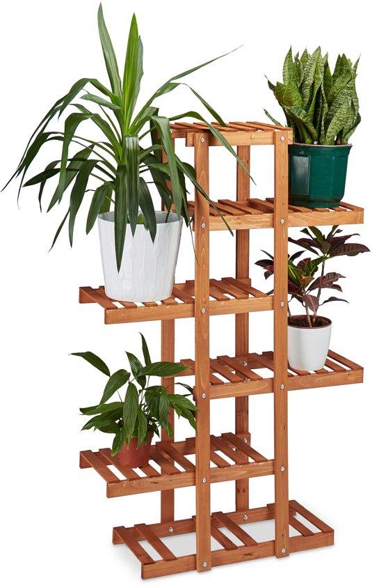 Top bol.com | relaxdays - plantenrek van hout - 5 etages - plantentrap EQ02