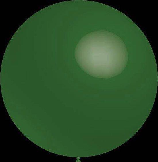 3 stuks Mega grote donker groene ballonnen 90 cm