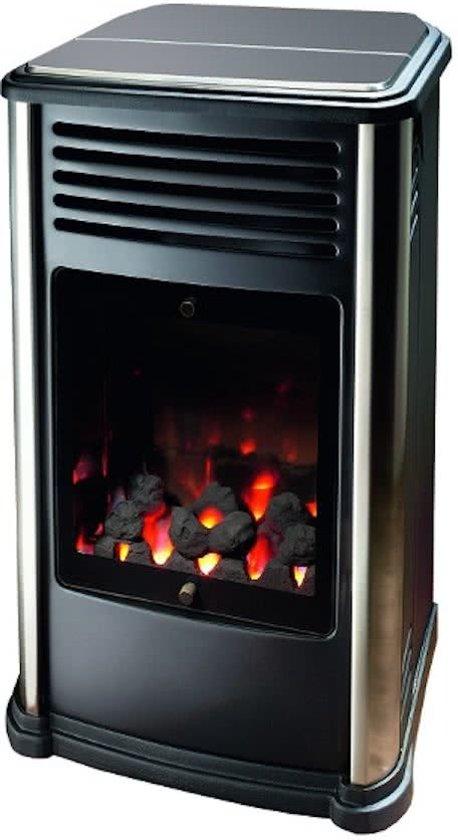Manhatten Sfeerhaard design gaskachel met open vuur 3kW in Krabbendam