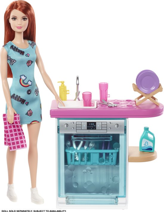 Barbie Vaatwasser - Barbie Meubels & Accessoires
