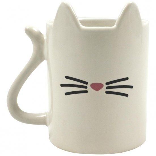 Katten mok wit 350 ml