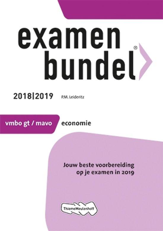 Boek cover Examenbundel vmbo-gt/mavo Economie 2018/2019 van  (Paperback)