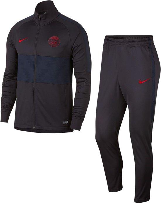 Nike Paris Saint Germain Dry Strike Trainingspak 20192020 Heren Oil GreyOil GreyObsidian(University Red) Maat M