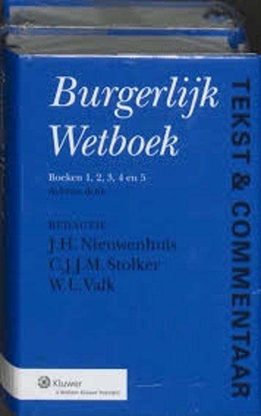 Boek cover Nieuw burgelijk wetboek tekst en commentaar van J.H. Nieuwenhuis (Hardcover)