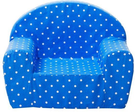 Kinder Relax Stoel.Bol Com Gepetto Relax Stoel Voor Kinderen Blauw Met Witte Stippen
