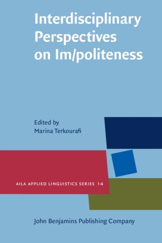 Interdisciplinary Perspectives on Im/politeness