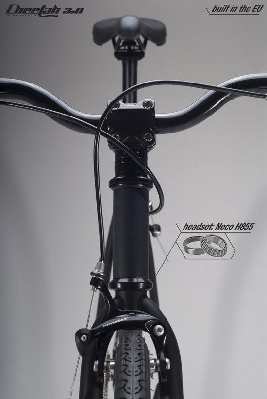 Cheetah 30 Fixed Gear Bike Grijs Goudenkleurige Velgen 59 Cm
