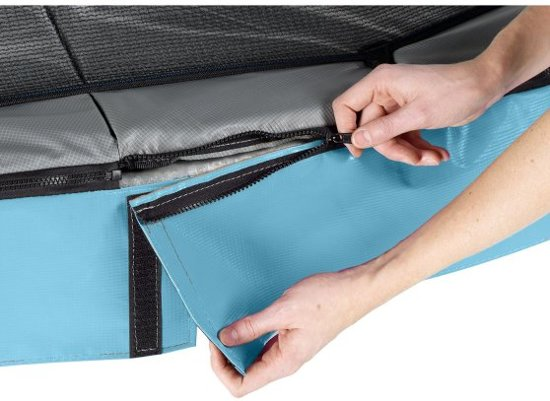EXIT Elegant trampoline 244x427cm met veiligheidsnet Deluxe - blauw