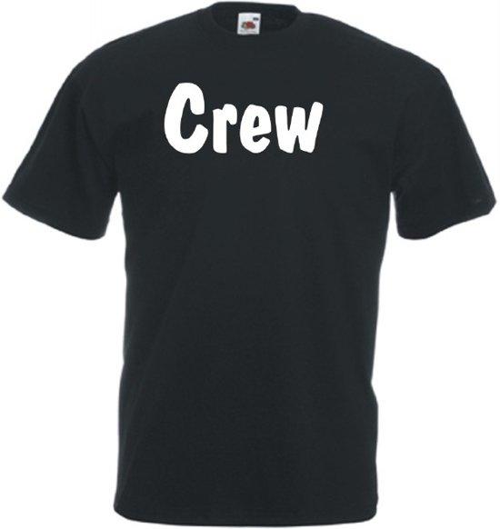 Mijncadeautje Unisex T-shirt zwart (maat L) Crew - tekst voorzijde