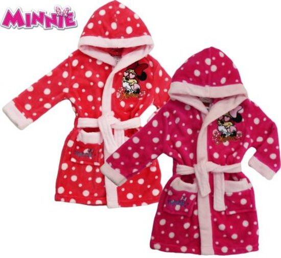 97478f79a42b78 bol.com | Disney Minnie Mouse badjas met capuchon - roze - 110