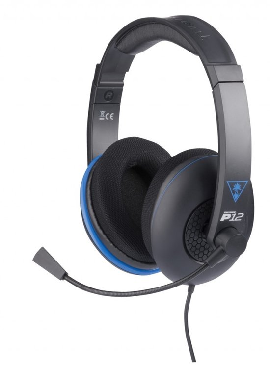 Turtle Beach Ear Force P12 Wired Stereo Gaming Headset - Zwart (PS4 + PS Vita + Wii U + 3DS + Mobile) kopen