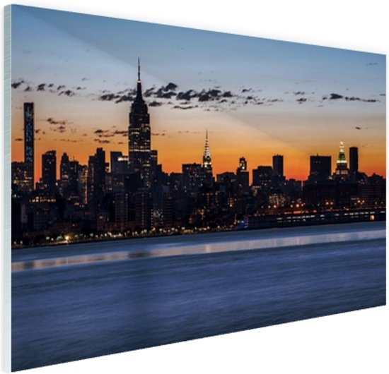 Wanddecoratie Op Glas.Bol Com New York City Glas 180x120 Cm Foto Print Op Glas